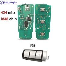 Jingyuqin 3 أزرار الذكية مفتاح السيارة عن بعد فوب لفولكس واجن 434Mhz ID48 رقاقة لشركة فولكس فاجن باسات B6 3C B7 Magotan CC