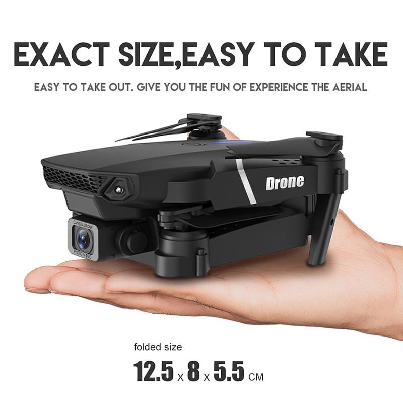 KEELEAD E525 PRO Mini Drone 4K HD Double Camera WiFi Fpv Foldable Quadcopter rc helicopter child Dron Gift 4