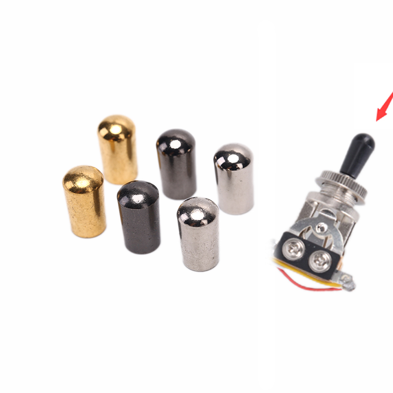 1Pc Electric Guitar Toggle Switch Internal Thread 3.5mm/4mm Brass Electric Guitar Toggle Switches Knobs Tip Cap Button