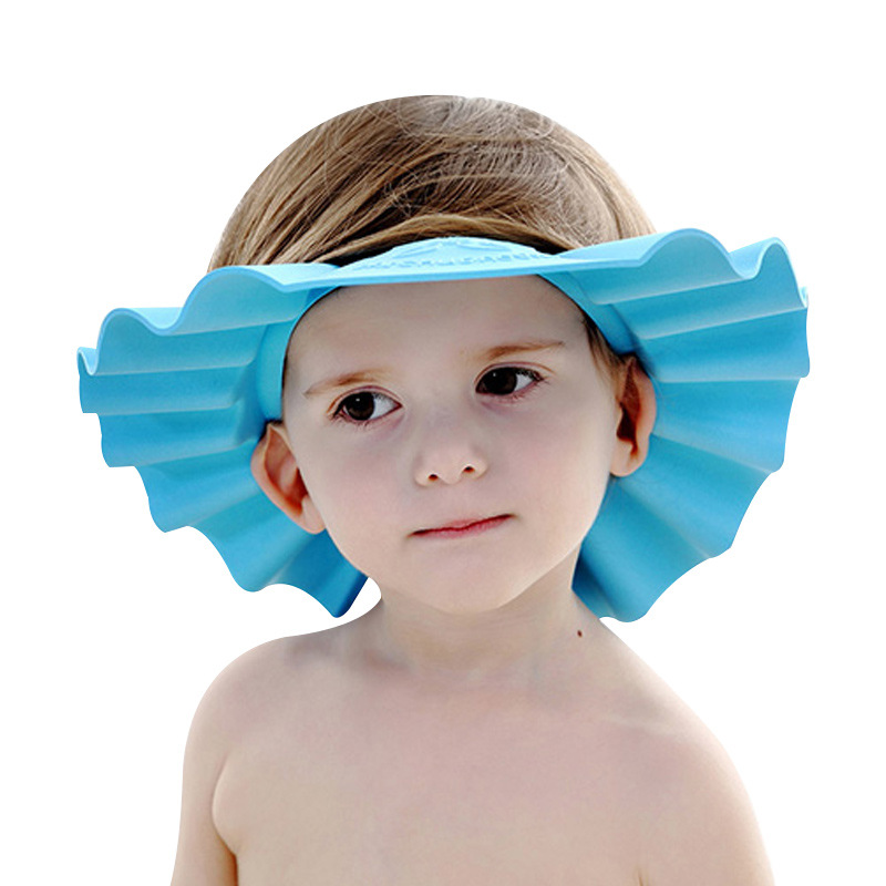 Adjustable Soft Baby Kids Shampoo Bath Shower Cap Shampooing For Children Head To Baby Shower Hat Child Bathing Cap Bath Visor
