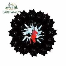 Earlfamily 13cm x 12.8cm para se presentan como estudios auto adesivos de carro janela do carro vinil material personalidade anime decalque