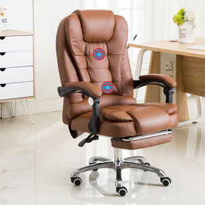 Image 4 - Computer Chair Household Office Chair Rotary Chair Boss Chair Modern Simple Backrest Comfortable Lazy Chair
