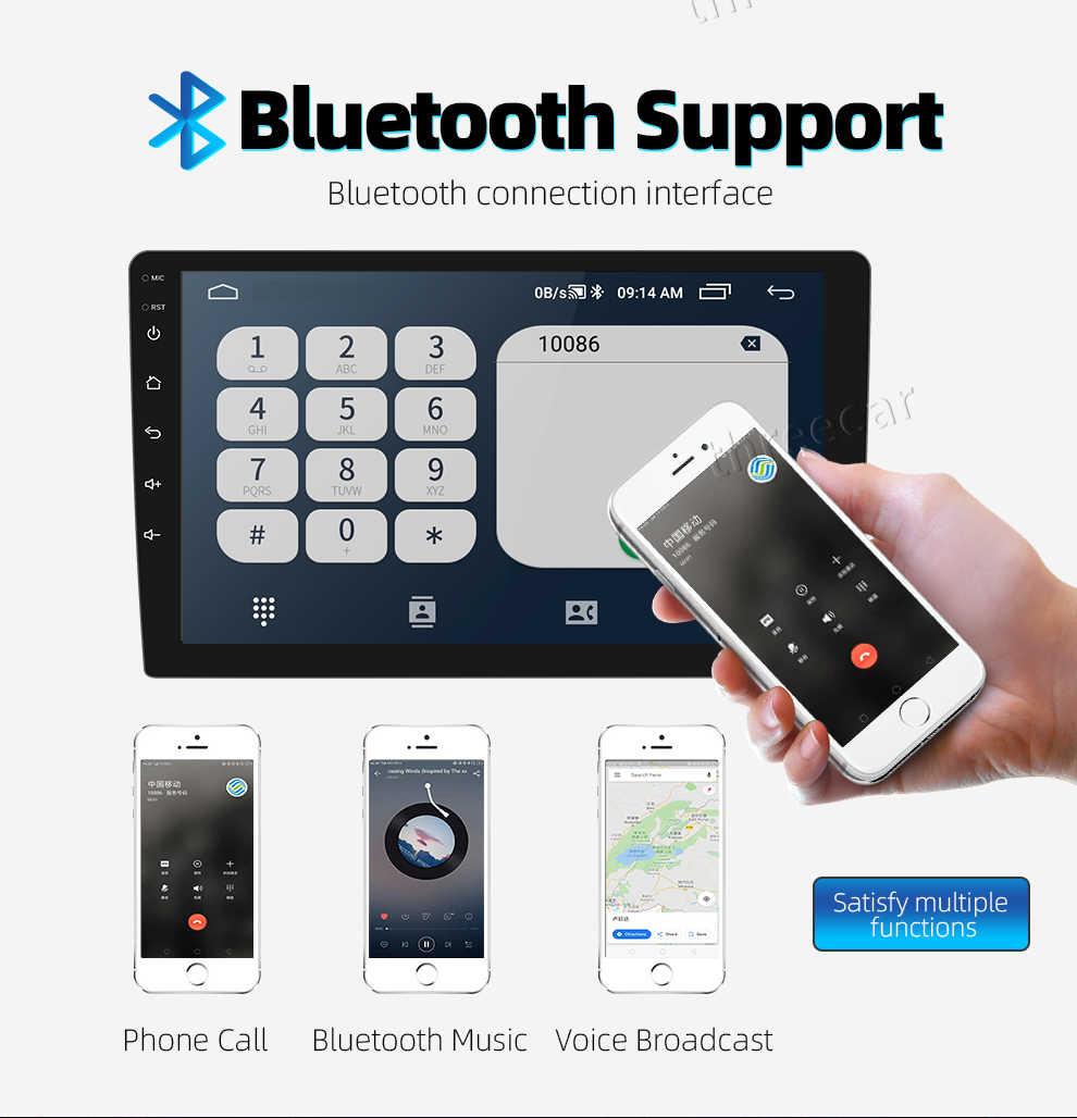 2 din android 2.5D autoradio Android 8.1 universal car radio Player di NAVIGAZIONE di GPS WIFI Bluetooth Lettore MP5 Split Screen 1 + 16