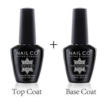 Nailco Base En Top Coat Gel Nagellak 15Ml Uv Led Lamp Semi Vernis Permanente Nail Art Losweken hybrid Vernissen
