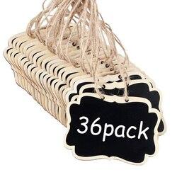 36 sztuk mini tablice kredowe znaki  3.54x2.55 Cal wiszące tablice tablice znaki tablica ogłoszeń znaki na dekoracje lub przechowywanie znak na