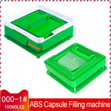 Placa de cápsulas vazia para pó, ferramenta manual de enchimento para aerósol, 100 #00 #0 #1 cápsula