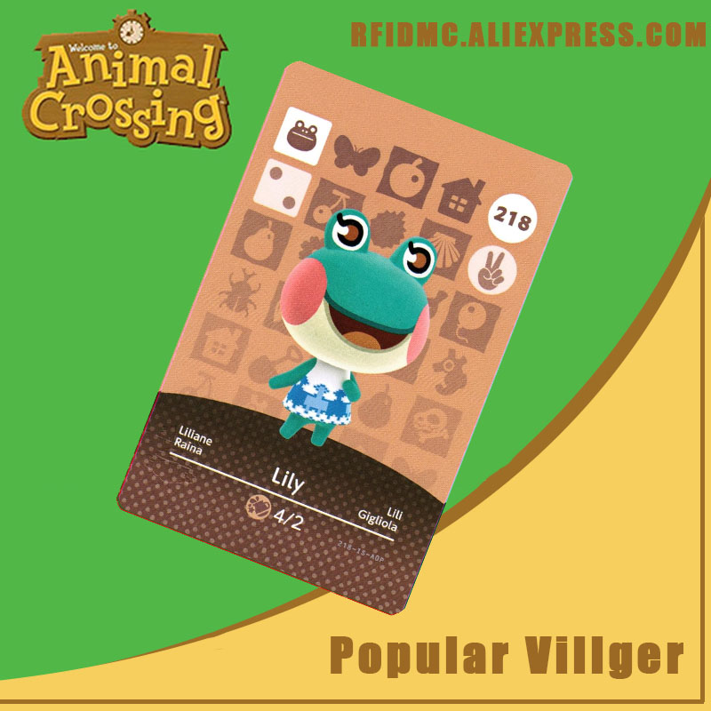 218 Lily Animal Crossing Card Amiibo For New Horizons