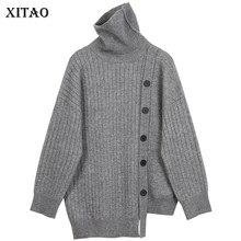 XITAO solide pull pull femmes 2020 automne décontracté mode nouveau Style tempérament tout Match col roulé femmes vêtements XJ5041
