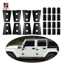 цена на ZXMOTO 8PCS Black Car Abs Door Hinge Cover Trim For Jeep Wrangler JK Unlimited 4 Door 2007-2017 Car Styling