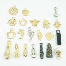Metal Zipper Jacket Head-Decorations Sewing-Accessories Pendant for Bag Hanging-Ornaments
