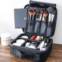 PU Cosmetic Bag Travel Ladies Professional Large-capacity Canvas Leather Material Popular Case Make Up Artist Girl