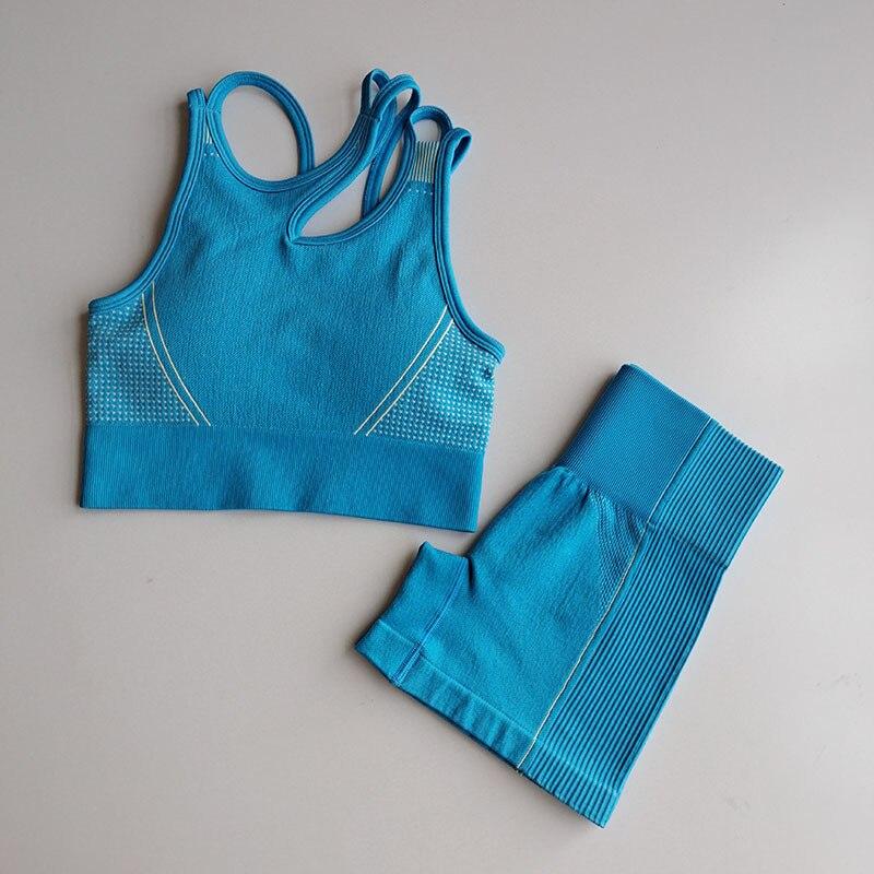 Verão sem costura yoga ternos esportivos roupas