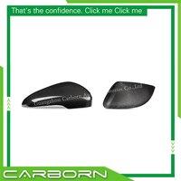 Capa de espelho de fibra de carbono para volkswagen golf 6 gti r20 2008-2012 gloss black add on/ 1:1 estilo de substituição