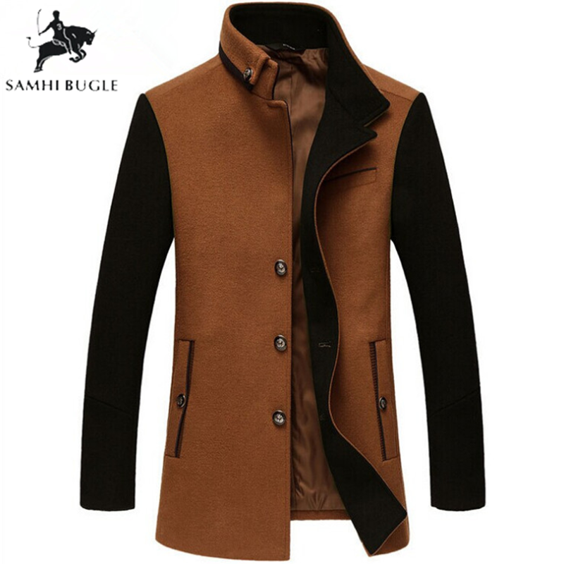 Men Coat Winter Wool Caot Erkek Kaban Fashion Business Thicken Slim Overcoat Jacket Male Peacoat Brand Clothes Coat Men