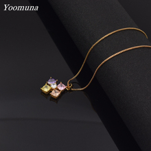 New women necklace geometric choker pendant for women's chain necklace Jewelry crystal fashion necklace for women statement