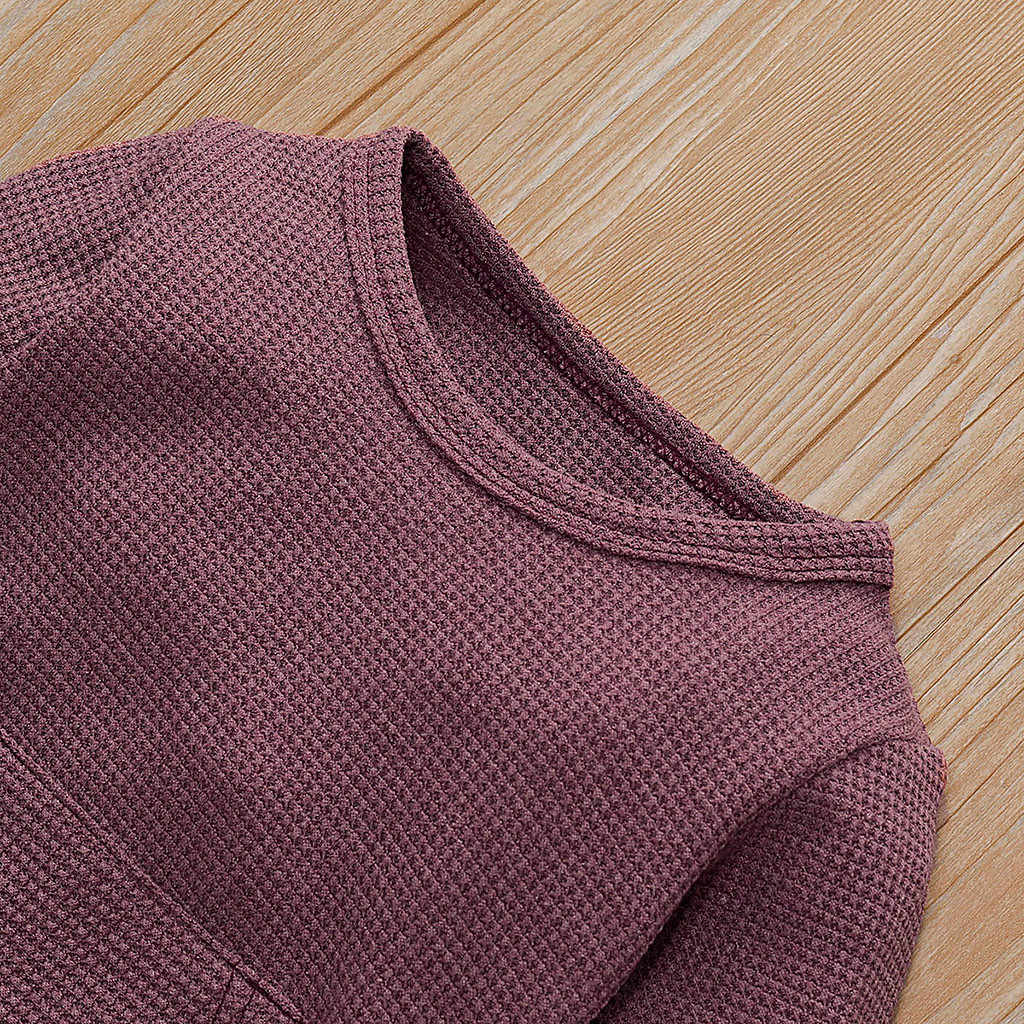 CYSINCOS תינוק ילדים בני בנות תינוקות סלעית מוצק Romper ילדי סתיו חורף בגדי סרבל ארוך שרוול בגדי Outsuits