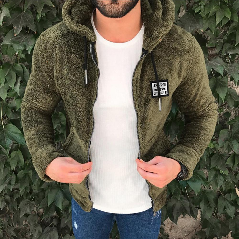 Men Sweatshirt Jacket Zipper Loose Winter Fashion Casual Hooded Sudadera Plush Double-Sided title=