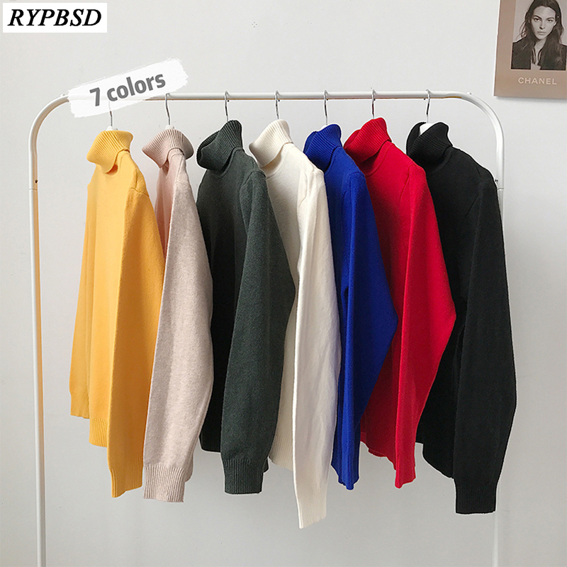 Turtleneck Sweater Men Cashmere Solid Color Turtle Neck Sweater Men Pullover Warm High Quality Mens High Neck Sweater M-5XL