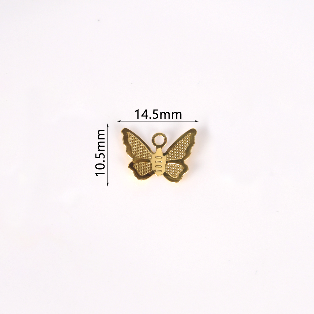 30Pcs/Lot Copper Brass Butterfly Pendant Charms For Necklace Bracelet Earrings Butterfly Jewelry Making Findings Accessories 2