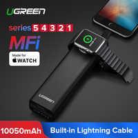 Ugreen inalámbrico cargador banco de potencia 10050mAh para Apple 5/4/3 iPhone 8 cargador de batería externa para teléfonos móviles Poverbank