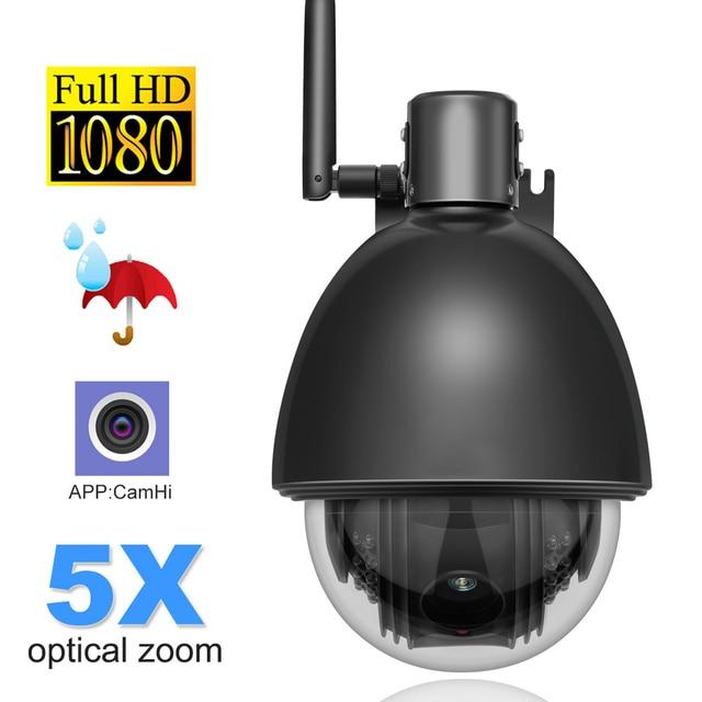 1080P מלא HD PTZ מהירות כיפת IP מצלמה 5x זום חיצוני עמיד למים CCTV WiFi מצלמה מיני זיהוי תנועת ONVIF h.264
