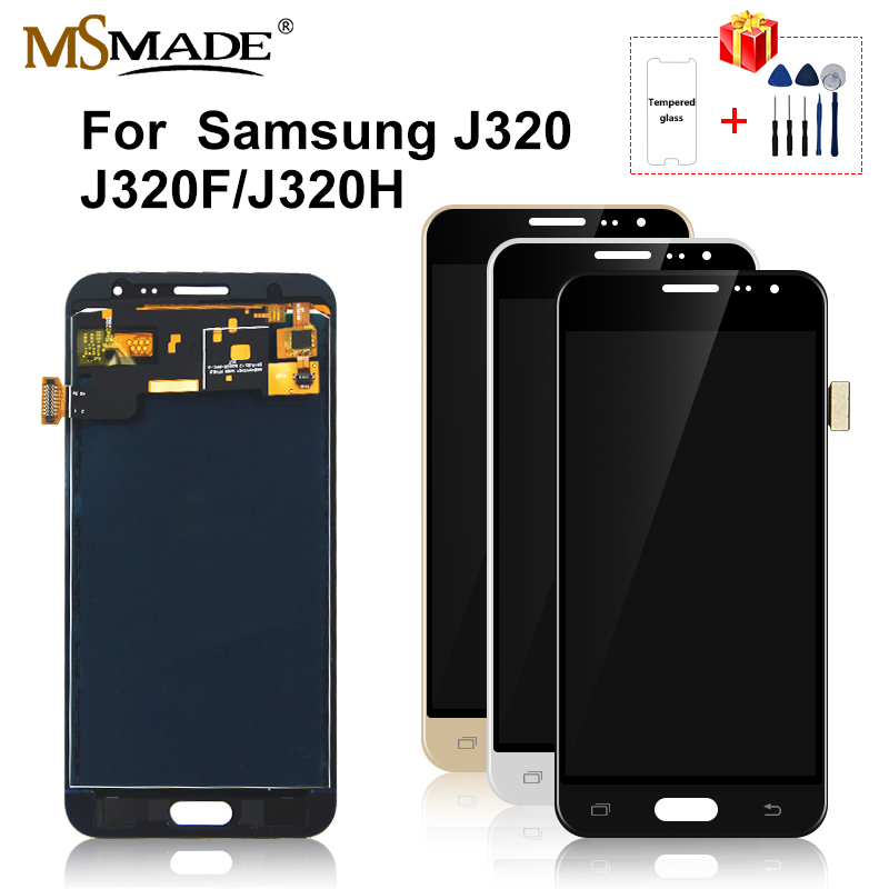 For Samsung Galaxy J3 2016 J320 LCD Display Touch Screen Replacement Parts For Samsung J320F J320H LCD Can Adjust Brightness