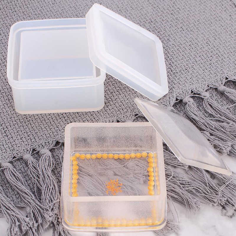 Silicone Hexagon Jewellery Storage Box Mold Resin Casting Mould Making DIY Craft
