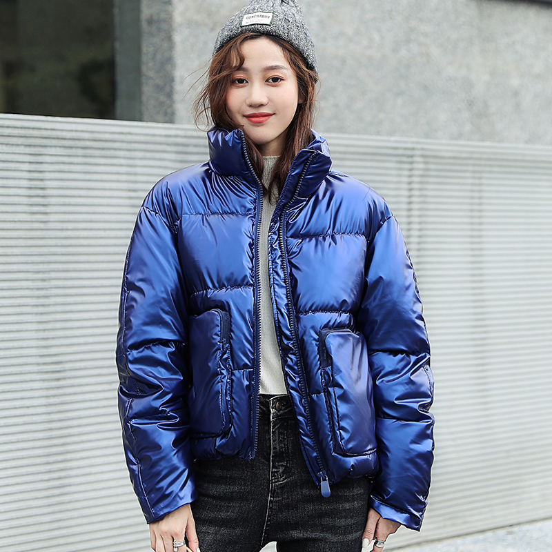 2020 Women Stand Collar Winter Short Jacket  Cotton Padded Women's Parkas Loose style Thick Plus Size Casual Female Coat