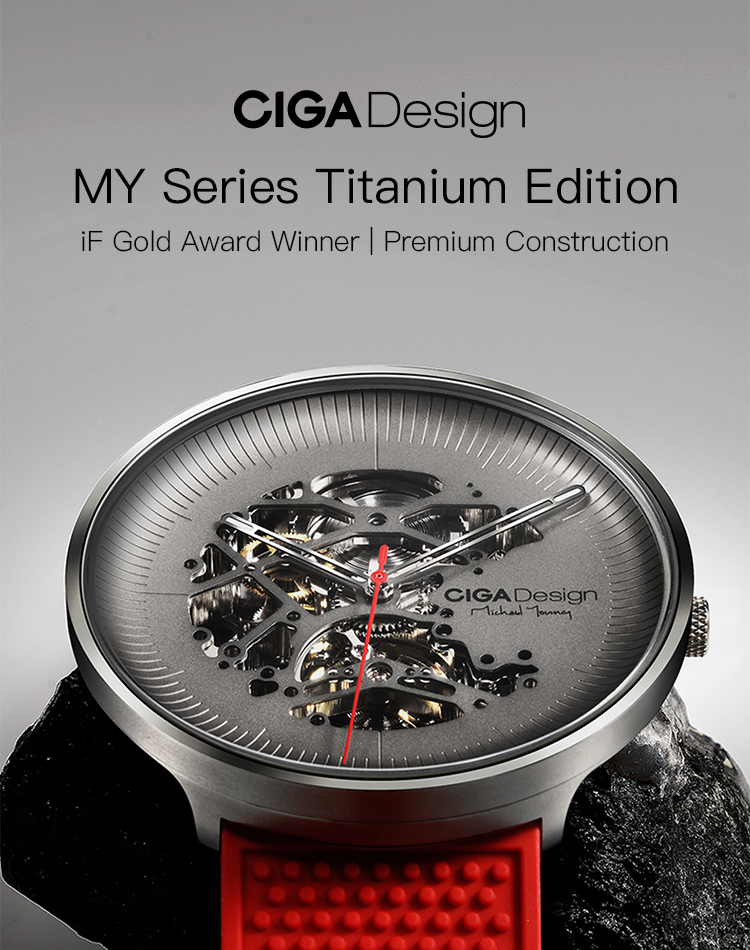 H5cb949c068f447f38a570f1185e55529w CIGA DSIGN MY Series Titanium Dial Watch Automatic Mechanical