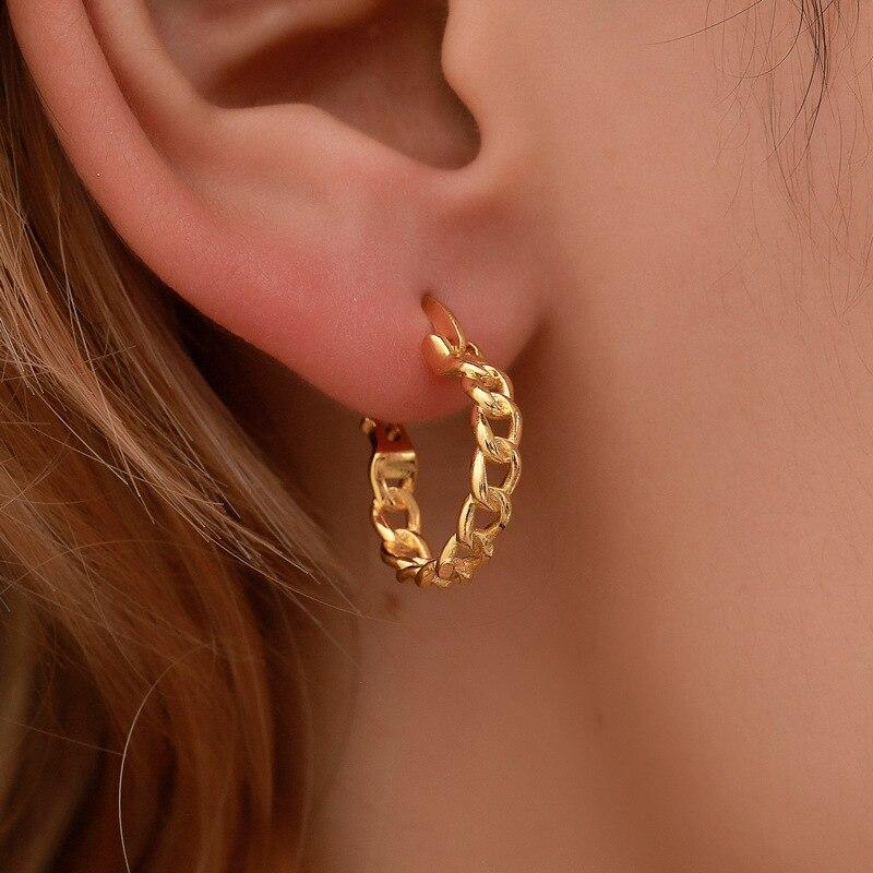Женские серьги-кольца 2020, Золотые серьги, модная винтажная бижутерия, круглые маленькие геометрические серьги, подвески для девочек
