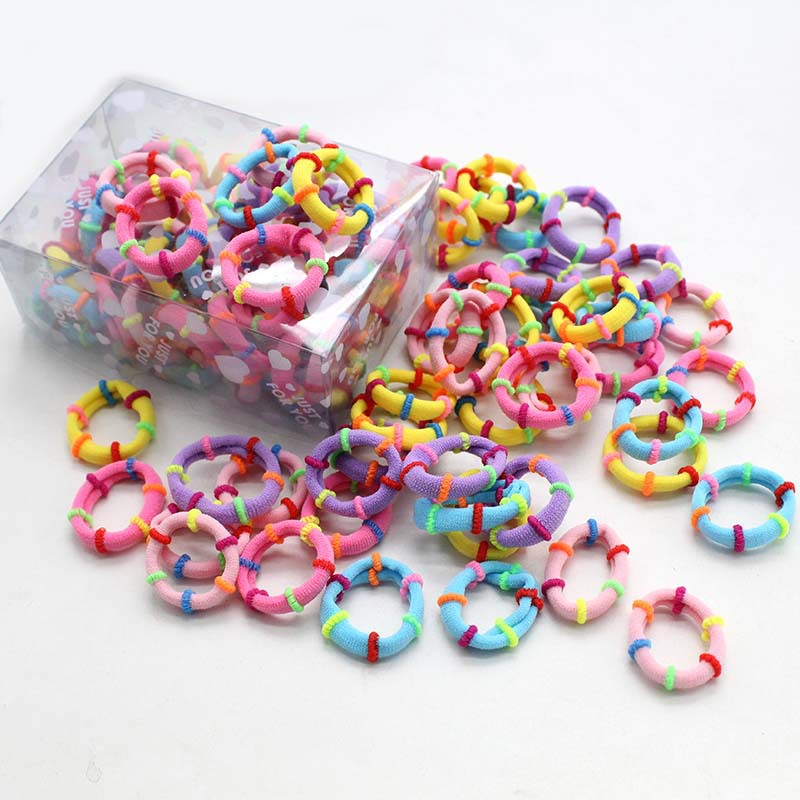 New Charming Charming Casual Cute 50Pcs Baby Kids Girl Elastic Hair Bands Ponytail Holder Bobbles Head Rope Ties Headwear