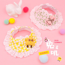 Pet-Supplies Cat Cute Rabbit with Convenient Velcro Bibs Jewelry Sweet Bow-Tie Dog Triangle