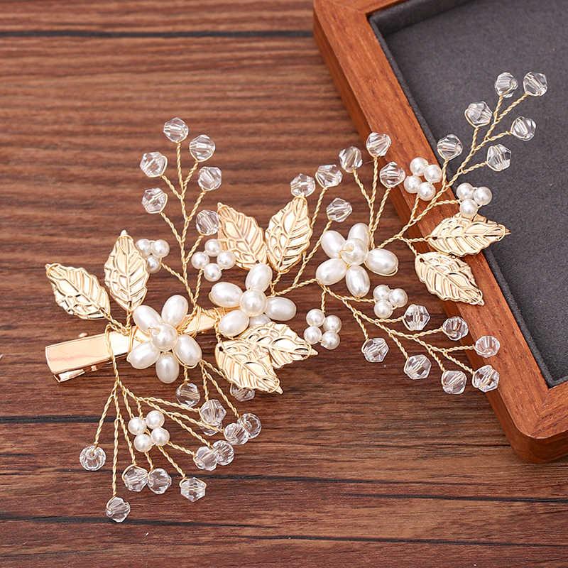 Femmes cheveux peigne bijoux mariage cheveux accessoires strass perle mariée cheveux peigne dames cheveux bijoux lumière or peigne casque