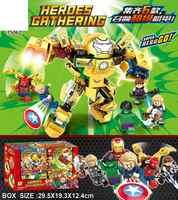 75062 vengadores Iron Man 6 modelos fit anti-Jieke máquina armadura puzle ensamblado niño bloques de construcción Juguetes