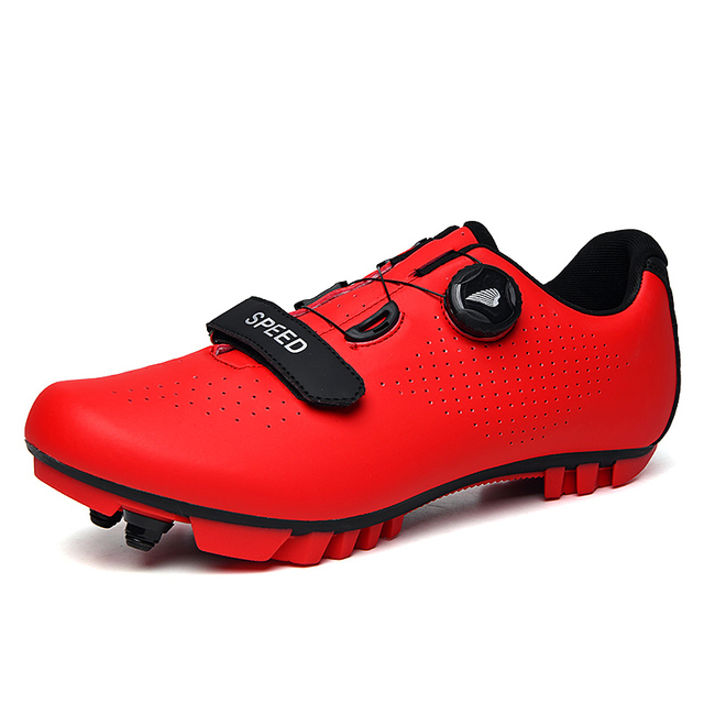 Fibra de carbono dos homens sapatos ciclismo respirável triathlon mountain bike tênis homem esporte de corrida estrada sapatos rotação fivela 2