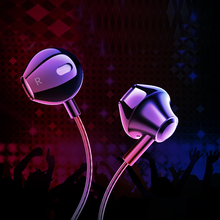 Metal Wired earphone High bass stereo In-Ear Earphones With Microphone headset earbuds For iphone Computer ipad samsung huawei joyroom 3 5mm wired earbuds earphones in ear for xiaomi samsung phone computer in ear sport earphones with microphone stereo