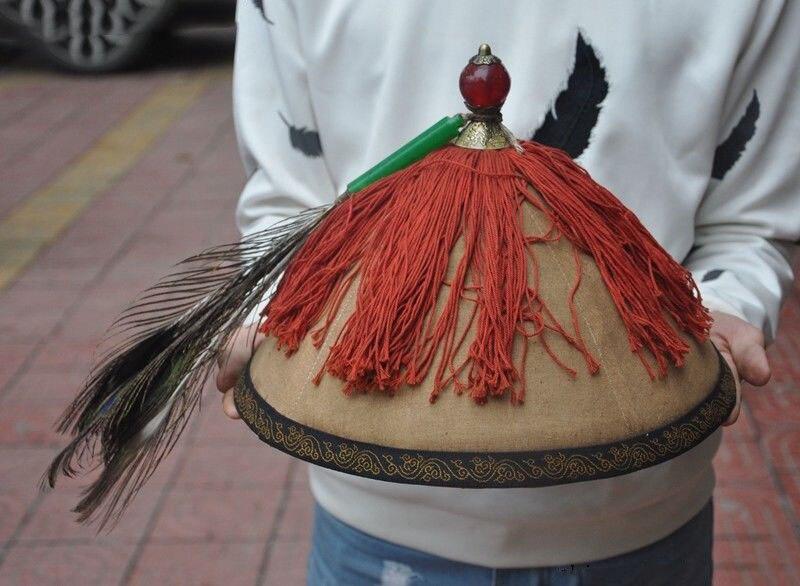 Christmas Ancient China Dynasty silk gem Royal Highness Official hat cap headgear chapeau Halloween Statues & Sculptures     - title=