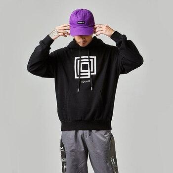 New Fashion Hip Hop Style Men Black Sweatshirt Casual Streetwear Sweatshirt Hoodies Cotton Long Sleeve Sweatshirt Pullover Men фото