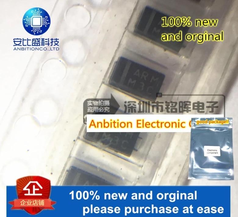 10pcs 100% New And Orginal AR1PM 1A 1000V Silk-screen ARM DO-220AA AR1PM-M3/84A In Stock.webp