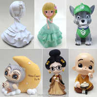 Chinese princess Hanfu girl silicone molds 3D anime plaster mold crafts cement clay tools model DIY gypsum figurine dolls mould