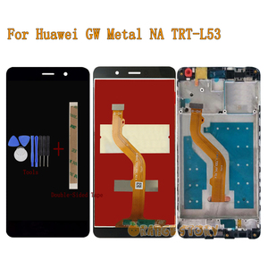 Image 1 - New LCD Display Screen For Huawei GW Metal NA TRT L53 TRT 53 Full LCD Display Touch Screen Monitor Sensor Glass Assembly Frame