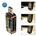 Портативный USB-тестер KM001 POWER-Z, цифровой вольтметр QC3.0 2,0 PD, цифровой измеритель напряжения и тока Type-C, детектор внешнего аккумулятора