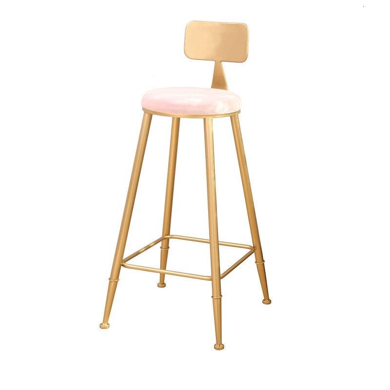 Simple Iron Home Gold Back Leisure Fashion High Stool Bar Chair Fauteuil Sillas Cadeira