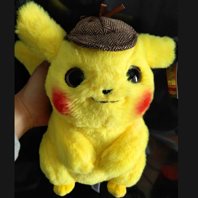 High Quality Pikachu Detective Plush Doll Toy Super Similar To Movie  Anime Game Dolls Toys For Boy Birthday Fans Gift