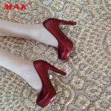 Масштаб 1/6 Женская винно красная обувь на высоком каблуке модель