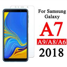 2 pcs Tempered Glass Screen Protector For Samsung Galaxy  A6 A7 A8 A9 2018