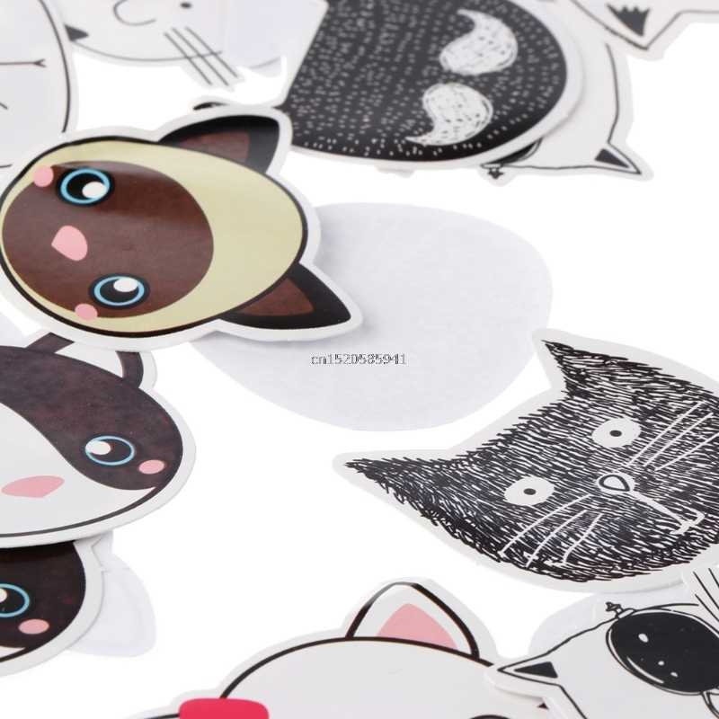 45pcs Convenience Stickers Cute Animal Avatar Sticker Sticky Note Message Pad Bookmark Memo Post It Stationery