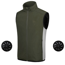 Summer Air Conditioning Heatstroke Countermeasures Outdoor Working Clothes Top Outdoor Vest Coat Fishing Suit Clothing new air conditioning vest outdoor fishing photographic cooling clothes wear resistant anti uv radiation protection breathable