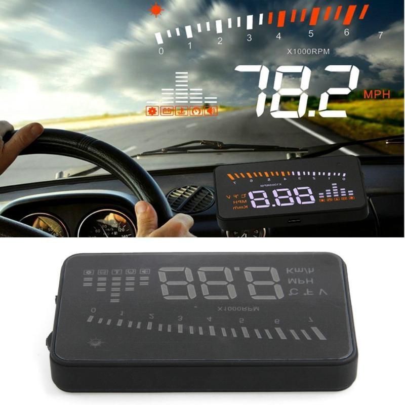 CLEARANCE X5 รถ HUD Head Up จอแสดงผล OBD2 รถ Speedometer กระจกโปรเจคเตอร์ขับรถความเร็วสูง MPH KM/H จอแสดงผล