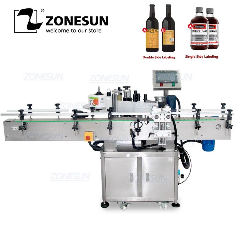 ZONESUN Автоматическая круглая банка для вина/банка, наклейка для бутылки, рулон этикеточной машины для фабрики